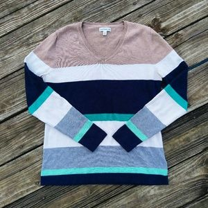 Croft and barrow striped sweater!
